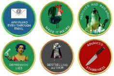 merit badges for The Bloggess  [via @SeanSandulak] http://thebloggess.com/
