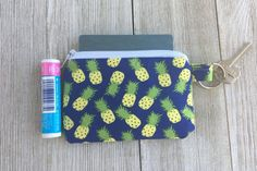 Pineapple print coin purse  Small coin by WoolandFlaxBoutique