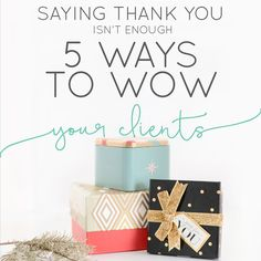 Last week we talked about the art of the Thank You Note and that you should  most definitely be integrating into your process for every client or  customer. But what about those clients that are VIP? The clients that make  purchase after purchase, always come back for more or continuously  recommend you to others. You've got to take extra special care of those  gems.   The best time to wow these special VIP clients or customers of yours is  totally up to you. We know some businesses that do…