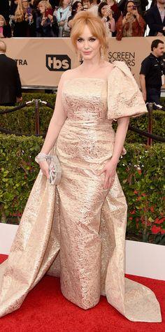 2016 SAG Awards Red Carpet Arrivals - Christina Hendricks  - from InStyle.com