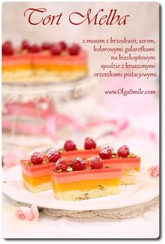 Tort Melba Olgi Smile Cake Recipes, Dessert Recipes, Desserts, Summer Cakes, Food Cakes, Waffles, Cereal, Smile, Baking