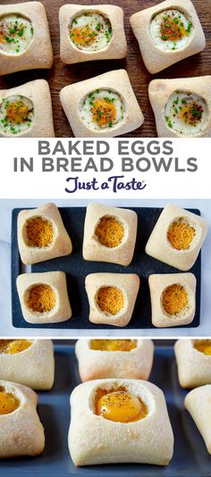 Baked Eggs in Bread Bowls recipe justataste.com #recipe #breakfast