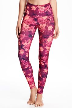 Go-Dry High-Rise Printed Compression Leggings