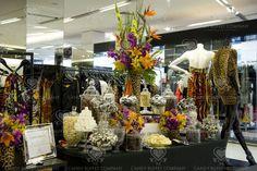 Appeal to the feminine senses on a candy buffet decor. www.celebrationsbykat.com