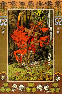 Ivan Bilibin - illustration of the red knight of the Baba Yaga. Baba Yaga, Art And Illustration, Illustrations And Posters, Fairy Tale Illustrations, Ivan Bilibin, Art Populaire Russe, Folklore Russe, Art Nouveau, Eslava
