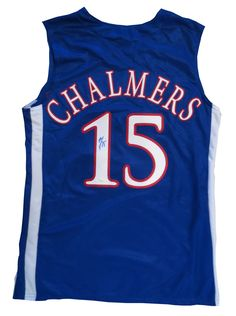 Mario Chalmers Autographed Kansas Jayhawks Basketball Jersey JSA COA Mario  Chalmers Autographed Kans signed autographed Kansas 21e2522ec