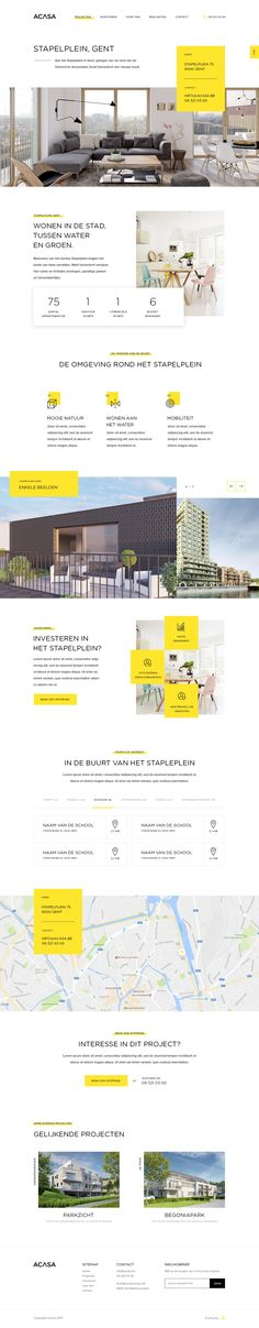 Sharpy Parallax Landing Page for Real estate business on Behance Website Layout, Web Layout, Layout Design, Website Ideas, Real Estate Website Design, Beautiful Website Design, Responsive Web Design, Ui Web, Best Web Design
