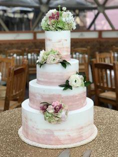 Wedding cake by Creme De La Creme Cake Company in Fort Worth, Texas.