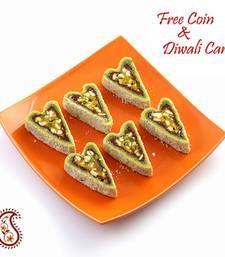 Buy Kajoo Pista Cutlets with Free Laxmi Ganesh Coin diwali-sweet online