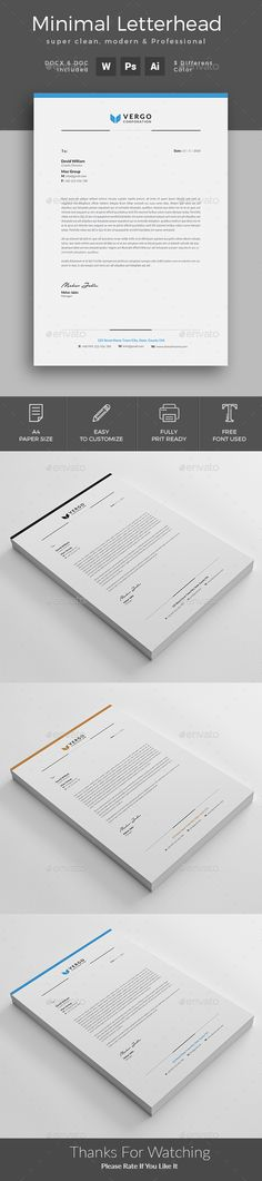 #Letterhead - Stationery Print Templates - Download here: https://graphicriver.net/item/letterhead/19972826?ref=jpixel55