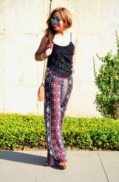 Your Outfit Today » Ruffle top on colored trousers, July 3 2014