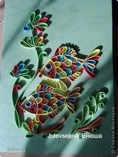Colorful #quilling fish