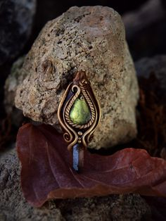 Green Labradorite and Smokey Quartz Necklace