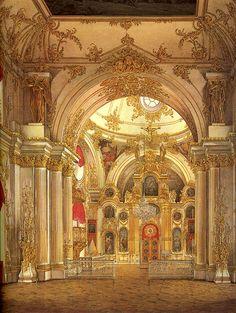 Э. П. Гау Большая церковь Тонкий картон, акварель. 345x270.