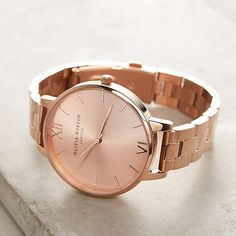 Olivia Burton Reign Rose Gold Watch Shop accessories for women at Urban Outfitters today. Trendy Watches, Gold Watches Women, Rose Gold Watches, Cool Watches, Woman Watches, Wrist Watches, Bijoux Or Rose, Copper Gifts, Bijoux Design