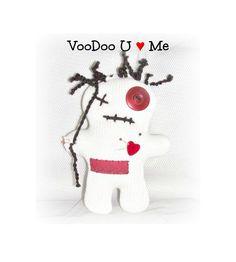 VooDoo Valentine Doll Monster Softie Little Bit Of Voo Doo Softie Doll Red Heart VooDoo U Love Me Doll by EerieBeth ICreateAndCollect Etsy by ICreateAndCollect on Etsy