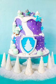 Everest Winter Wonderland Birthday Cake