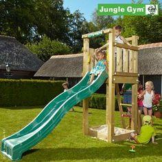 Jungle Gym Spielturm TOWER mit Rutsche - Grün: Amazon.de: Spielzeug