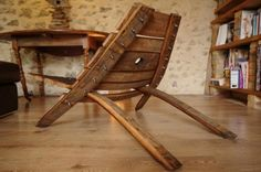 Would you believe that this beautiful chair was made from an old French wine barrel (but any old barrel will do) in about 30 minutes? #Upcycling