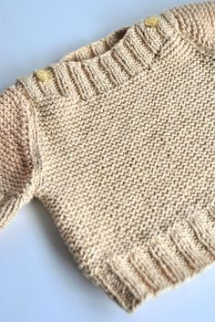 Aesthetic Nest: Knitting: Boatneck Sweater with Gold Buttons 2019 Aesthetic Nest: Knitting: Boatneck Sweater with Gold Buttons The post Aesthetic Nest: Knitting: Boatneck Sweater with Gold Buttons 2019 appeared first on Knit Diy. Baby Knitting Patterns, Baby Boy Knitting, Knitting For Kids, Knitting Stitches, Baby Patterns, Free Knitting, Knitting Projects, Baby Knits, Baby Sweater Patterns