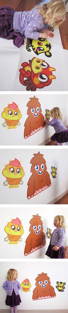 WALLS 360 wall graphics: Moshi Monsters - http://www.walls360.com/moshimonsters