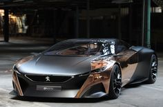 peugeot onyx car concept : a race dream car presented at paris 2012 car show