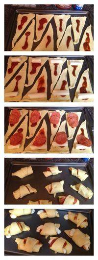 Crescent Roll Pizza Lunch Party: My kids loved these soo much they asked for these again the next day..yuuummmm! Laura Kelly's Inklings.