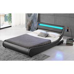 LED Bett TOKYO Doppelbett Polsterbett Grau 180x200 aus Großhandel und Import