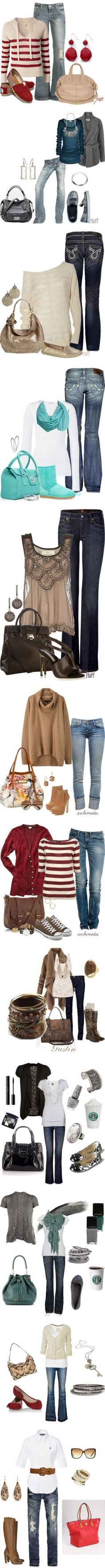 Whoa. A ton of cute outfit ideas for fall/winter.