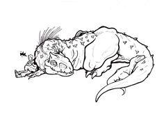 Request: Sleeping I-rex by fpobama.deviantart.com on @DeviantArt
