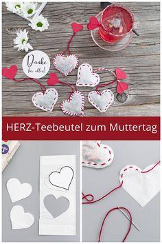 Werbung | Eine simple Idee, die selbst Kinder schon (mit)basteln können: Teebeutel in Herzform, die ganz individuell und am besten mit dem Lieblingstee befüllt werden können, lassen Mamas Herz bestimmt höher schlagen. #sinnenrauschDIY #DIY #muttertagsgeschenk #diygeschenkidee #mamaistdiebeste #teebeutel Diy Blog, Snoopy, Crafty, Craft, Jewelry Making, Knit Gifts
