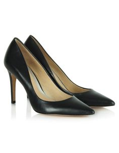 Whatever name you give them these Aysgath shoes in black are guaranteed to make your outfit fabulous! These patent black heels with pointed toes have leather soles and heels that measure approximately inches Black Patent Heels, Black Accents, Kitten Heels, Footwear, Shoe, Pumps, Leeds, Sandals, Boots