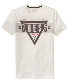 Guess Logo Graphic T-Shirt Camiseta Armani Exchange, Boys T Shirts, Tee Shirts, Mixing Prints, Tshirts Online, Printed Shirts, Boy Outfits, Tank Man, Graphic Tees