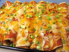 "Repinning! Cream Cheese Chicken Enchiladas - Pinner says: ""No joke: these were the best enchiladas I have ever made. My kids even ate them cold as leftovers."""