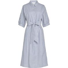 Belted Striped Cotton Shirt Dress - Blue Clu Cheap Sale Extremely Largest Supplier Sale Official Discount Fake Newest Cheap Online 5PUvfRC4s