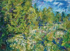 Ulrich Gleiter, Bright Summer Day, oil, 28 x 37.