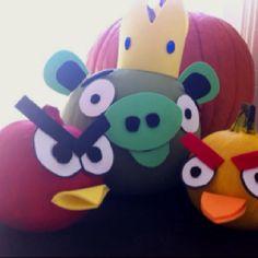 Angry Bird Halloween pumpkins