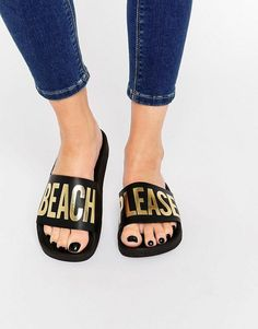 Didn't think you could rock sporty slides beyond the pool? Beach, please.