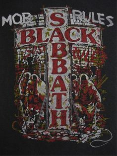 BLACK SABBATH vintage 1981 tour SHIRT