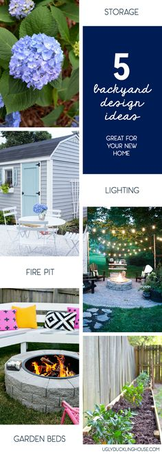 1. Ample storage 2. Room for entertaining 3. A beautiful garden 4. Nighttime lighting 5. An inviting fire http://www.uglyducklinghouse.com/how-to-dream-big-about-your-outdoor-space-5-backyard-design-ideas/?utm_campaign=coschedule&utm_source=pinterest&utm_medium=Sarah%20Fogle%20%7C%20The%20Ugly%20Duckling%20House&utm_content=How%20to%20Dream%20Big%20About%20Outdoor%20Spaces%20%28But%20Keep%20It%20Real%29 #ad