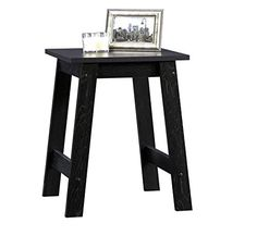 The #Sauder Beginnings Collection Side Table is sure to add a contemporary style and simple functionality to your living room. It comes in a black finish that ma...