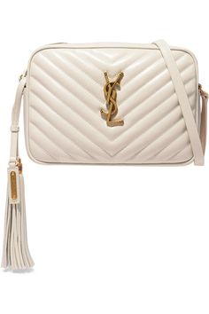 Get the trendiest Cross Body Bag of the season! The Saint Laurent Monogram Lou Camera Ysl In Quilted Blanc Vintage Leather Cross Body Bag is a top 10 member favorite on Tradesy. Save on yours before they are sold out! Leather Tassel, Quilted Leather, White Leather, Leather Crossbody Bag, Crossbody Bags, Saint Laurent Jeans, Vintage Leather, Leather Shoulder Bag, Shoulder Bags