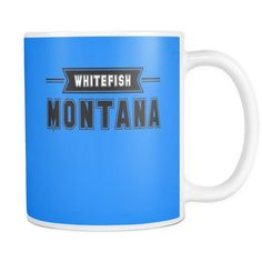 Whitefish Montana 11 oz Ceramic Mug Ski Big Mountain