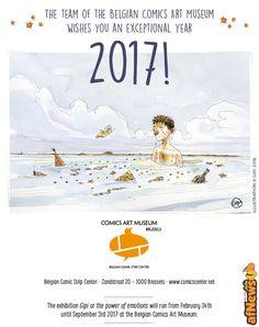Auguri per il 2017 dal Museo del Fumetto belga, con GiPi! - http://www.afnews.info/wordpress/2016/12/23/auguri-per-il-2017-dal-museo-del-fumetto-belga-con-gipi/