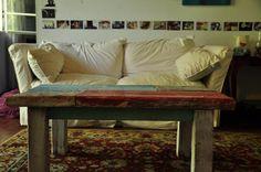 Mesa ratona con madera 100% reciclada by WOODHEAD