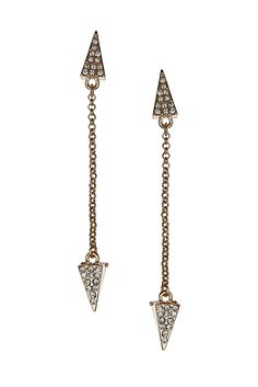 Rhinestone Arrow Drop Earrings - Earrings - Jewelry - Accessories - Topshop USA