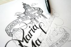 Amazing Detailed Hand Lettering Type with Illustration {ballpoint, ink & pen} // Martin Schmetzer