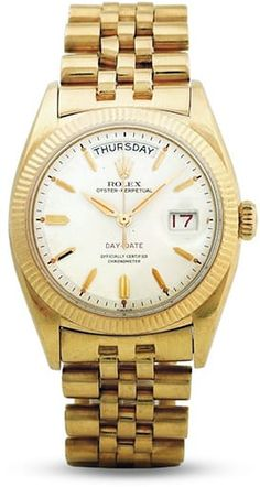 Then and Now: The First Rolex Day-Date vs. The Current Rolex Day-Date Gold Watches Women, Mens Watches For Sale, Luxury Watches For Men, Bulova Mens Watches, Rolex Watches, Rolex Vintage, Mens Watch Brands, Rolex Day Date, Fossil Watches