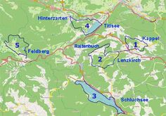 Black Forest Hiking Map Hikes and Walking Trails in Titisee Hinterzarten Feldberg Schluchsee