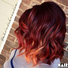 Burgundy Brown - 40 Red Hair Color Ideas – Bright and Light Red, Amber Waves, Ginger Hair Color - The Trending Hairstyle Ginger Hair Color, Hair Color Dark, Cool Hair Color, Short Red Hair, Gold Hair Colors, Bright Hair, Fall Hair, Summer Hair, Red Hair For Fall